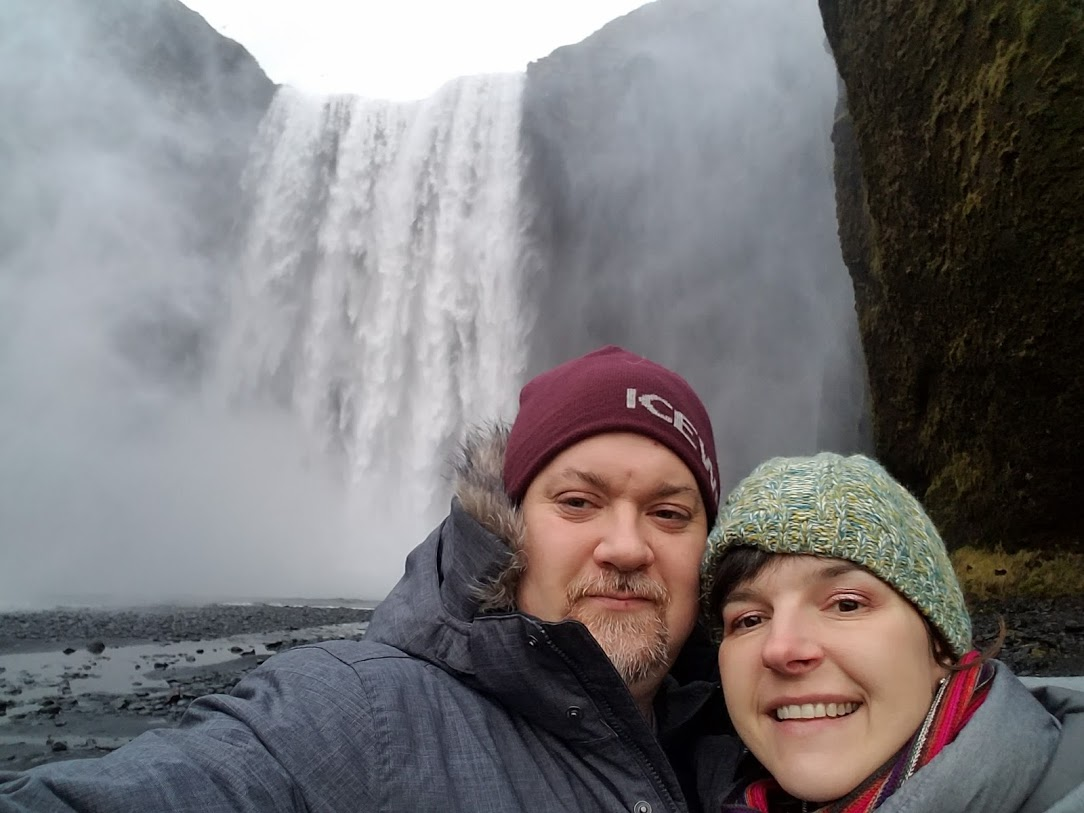 BJ Knapp author of Beside the Music visits waterfalls in Iceland