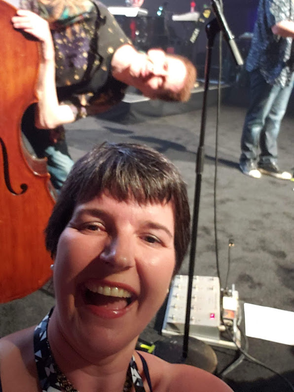 BJ Knapp author of Beside the Music got to sing with the Barenaked Ladies