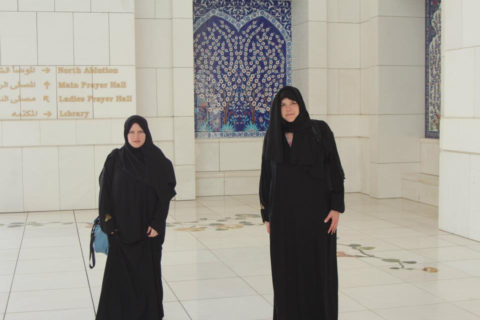 BJ Knapp author of Beside the Music visited Grand Mosque Abu Dhabi