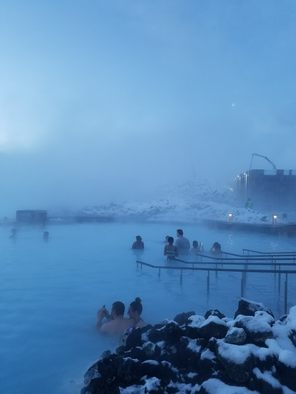 BJ Knapp author of Beside the Music visits Blue Lagoon Iceland