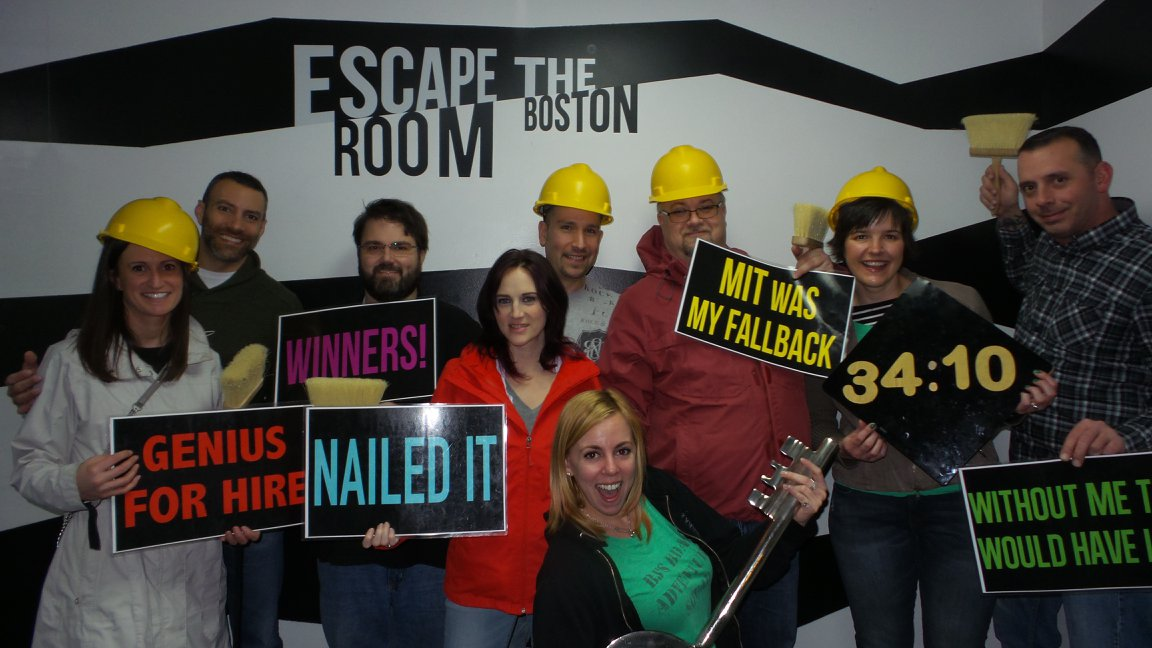 BJ Knapp author of Beside the Music did 4 Escape Rooms in Boston in her birthday.