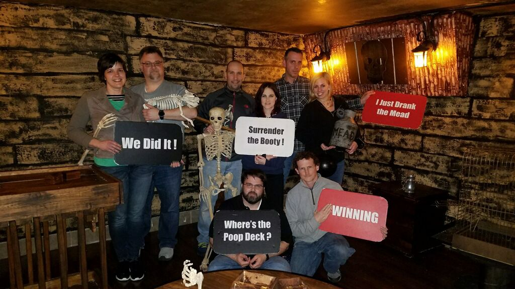 BJ Knapp author of Beside the Music did 4 escape rooms in Boston for her birthday.