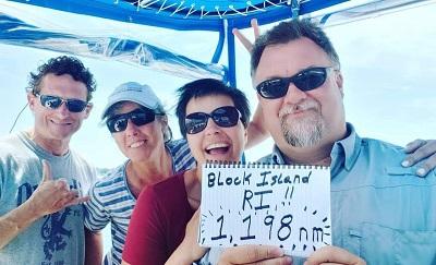 BJ Knapp author of Beside the Music sailed her catamaran 1,213 miles.