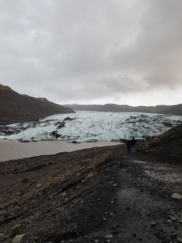 BJ Knapp author of Beside the Music visits a glacier in Iceland