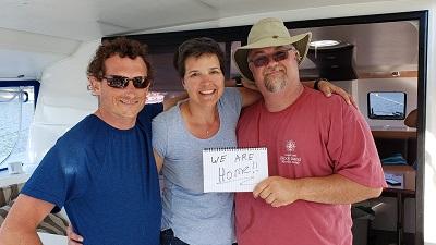 BJ Knapp author of Beside the Music sailed her catamaran 1,213 miles