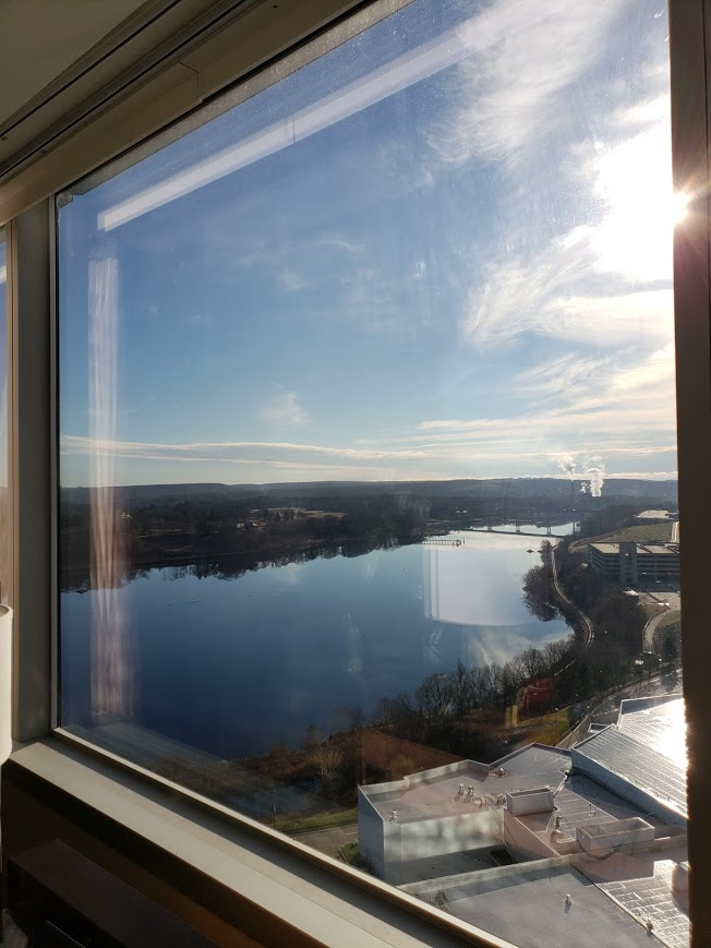 BJ Knapp author of Beside the Music has a great view of the Thames River from the Mohegan Sun Casino