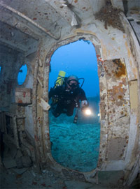 BJ Knapp author of Beside the Music went scuba diving on the wreck of the Spiegel Grove.