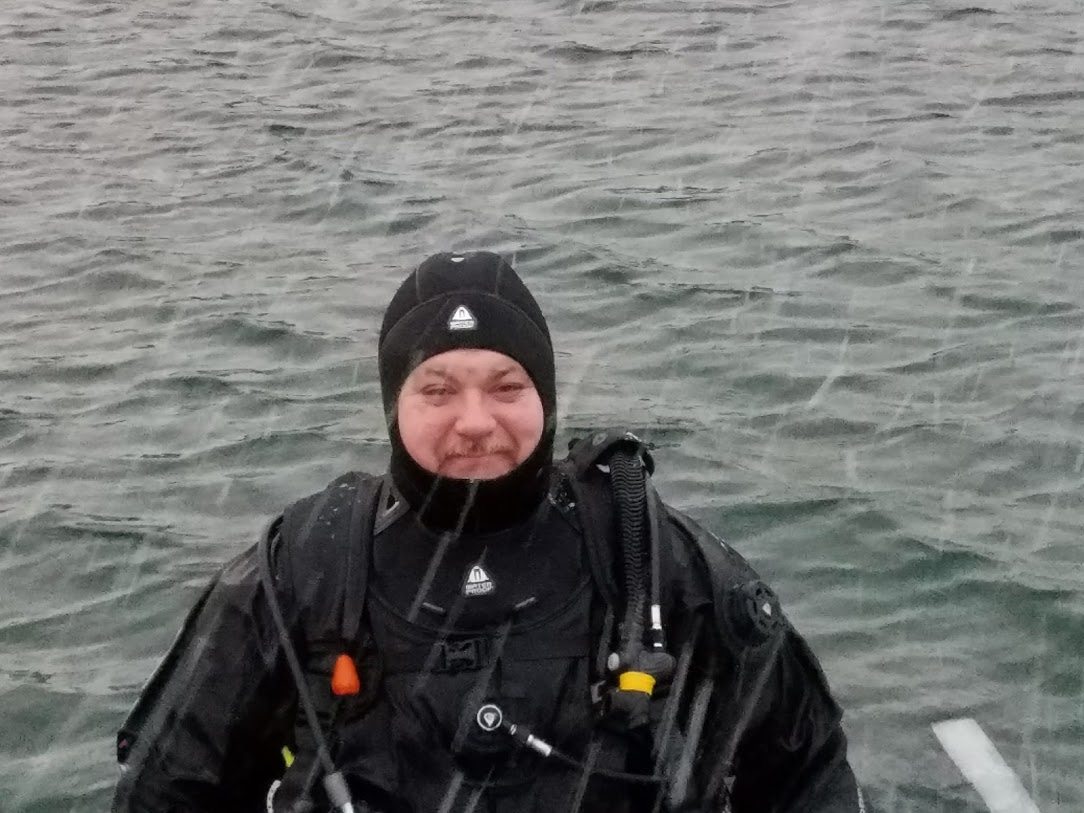 BJ Knapp author of Beside the Music scuba diving Silfra Iceland