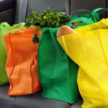 BJ Knapp author of Beside the Music uses reusable grocery bags.