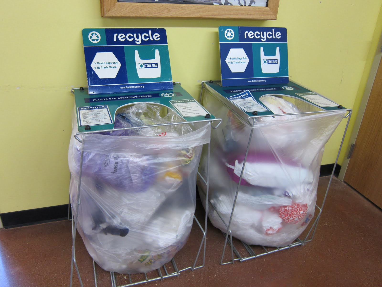 BJ Knapp author of Beside the Music recycles plastic bags.